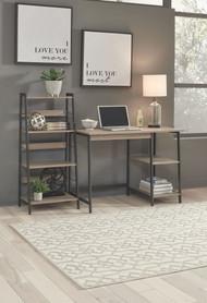 Soho Brown/Black Home Office Desk and Shelf