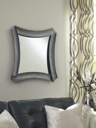 Posie Antique Silver Accent Mirror
