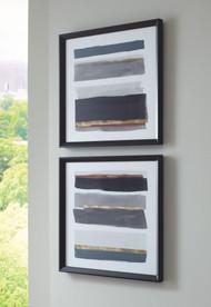 Hallwood Black/White/Gray Wall Art Set (2/CN)