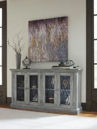 Mirimyn Antique Gray Door Accent Cabinet