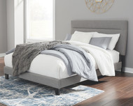 Adelloni Gray King Upholstered HDBD/FTBD/Roll Slats