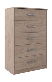 Flannia Gray Five Drawer Chest
