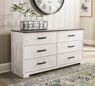 Shawburn White/Dark Charcoal Gray Dresser