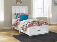 Brynburg White Twin Panel Bed