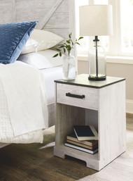 Shawburn White/Dark Charcoal Gray One Drawer Night Stand