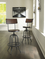 Odium Brown Tall Swivel Barstool