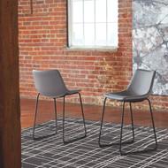 Centiar Gray Upholstered Barstool