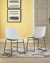 Centiar White Dining Upholstered Side Chair