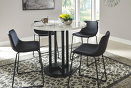 Centiar Two-tone 5 Pc.  Counter Table & 4 Upholstered Barstools