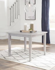 Loratti Gray Square Dining Room Table