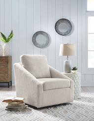 Wysler Cream Swivel Accent Chair