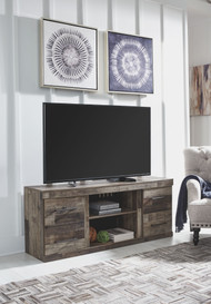 Derekson Multi Gray LG TV Stand w/Fireplace Option