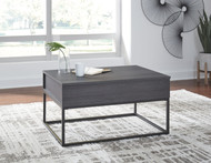 Yarlow Black Lift Top Cocktail Table