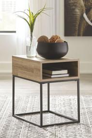 Gerdanet Natural Rectangular End Table