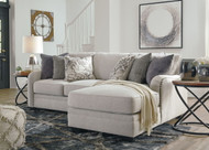 Dellara Chalk 2-Piece Sectional with Chaise