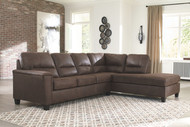 Navi Chestnut 2-Piece Sectional with Chaise