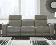 Correze Gray 3 Piece Power Reclining Sectional