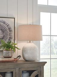 Jamon Beige Ceramic Table Lamp (1/CN)