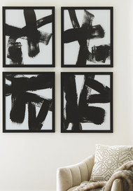 Doro Black/White Wall Art Set (4/CN)