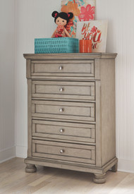 Lettner Light Gray Youth Five Drawer Chest