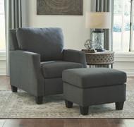 Bayonne Charcoal 2 Pc. Chair, Ottoman