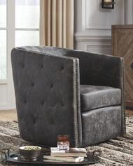 Brentlow Distressed Black Swivel Chair
