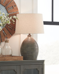 Joyelle Gray Terracotta Table Lamp (1/CN)