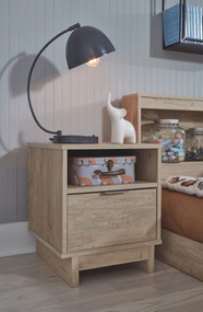 Oliah Natural One Drawer Night Stand