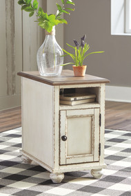 Realyn White/Brown Chair Side End Table
