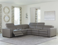 Texline Gray Power Reclining Sectional