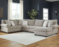 Baranello Stone LAF Sofa with Corner Wedge, Armless Loveseat & RAF Corner Chaise Sectional