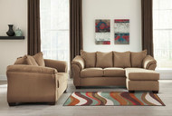 Darcy Mocha Sofa Chaise & Loveseat