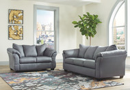 Darcy Steel Sofa & Loveseat