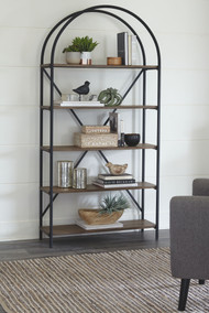 Galtbury Brown/Black Bookcase