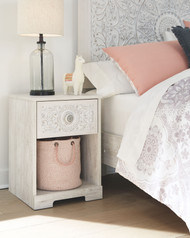 Paxberry White Aged Pine One Drawer Night Stand