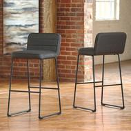 Nerison Gray Tall Upholstered Barstool