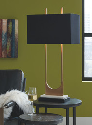 Malana Brass Finish Metal Table Lamp (1/CN)