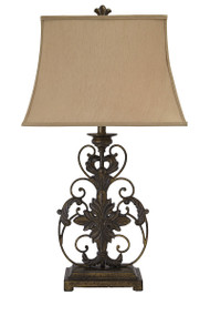 Sallee Gold Finish Poly Table Lamp