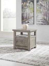 Marcilyn Brown Rectangular End Table