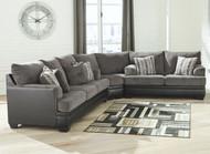 Millingar Smoke Sofa, Wedge & Loveseat Sectional