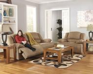 Hogan Mocha 2 Seat Reclining Sofa & Zero Wall Wide Seat Recliner