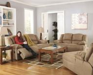 Hogan Mocha 3 Pc. 2 Seat Reclining Sofa, Reclining Loveseat & Press Back Chaise