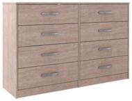 Flannia Gray Eight Drawer Dresser