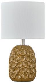 Moorbank Amber Ceramic Table Lamp (1/CN)