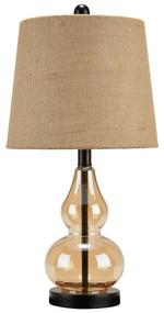 Makana Champagne/Black Glass Table Lamp (1/CN)
