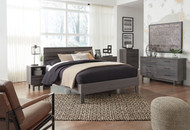 Brymont Dark Gray 6 Pc. Dresser, Three Drawer Chest, Four Drawer Chest, Queen Panel Platform Bed, Nightstand