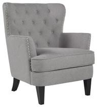 Romansque Gray Accent Chair