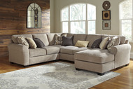 Pantomine Driftwood LAF Loveseat, Wedge, Armless Loveseat, RAF Corner Chaise Sectional