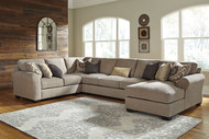 Pantomine Driftwood LAF Loveseat, Wedge, Armless Sofa, RAF Corner Chaise Sectional