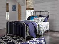 Nashburg Silver Queen Metal Bed